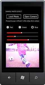 Aplikasi Sample Photo Effect WindowsPhone